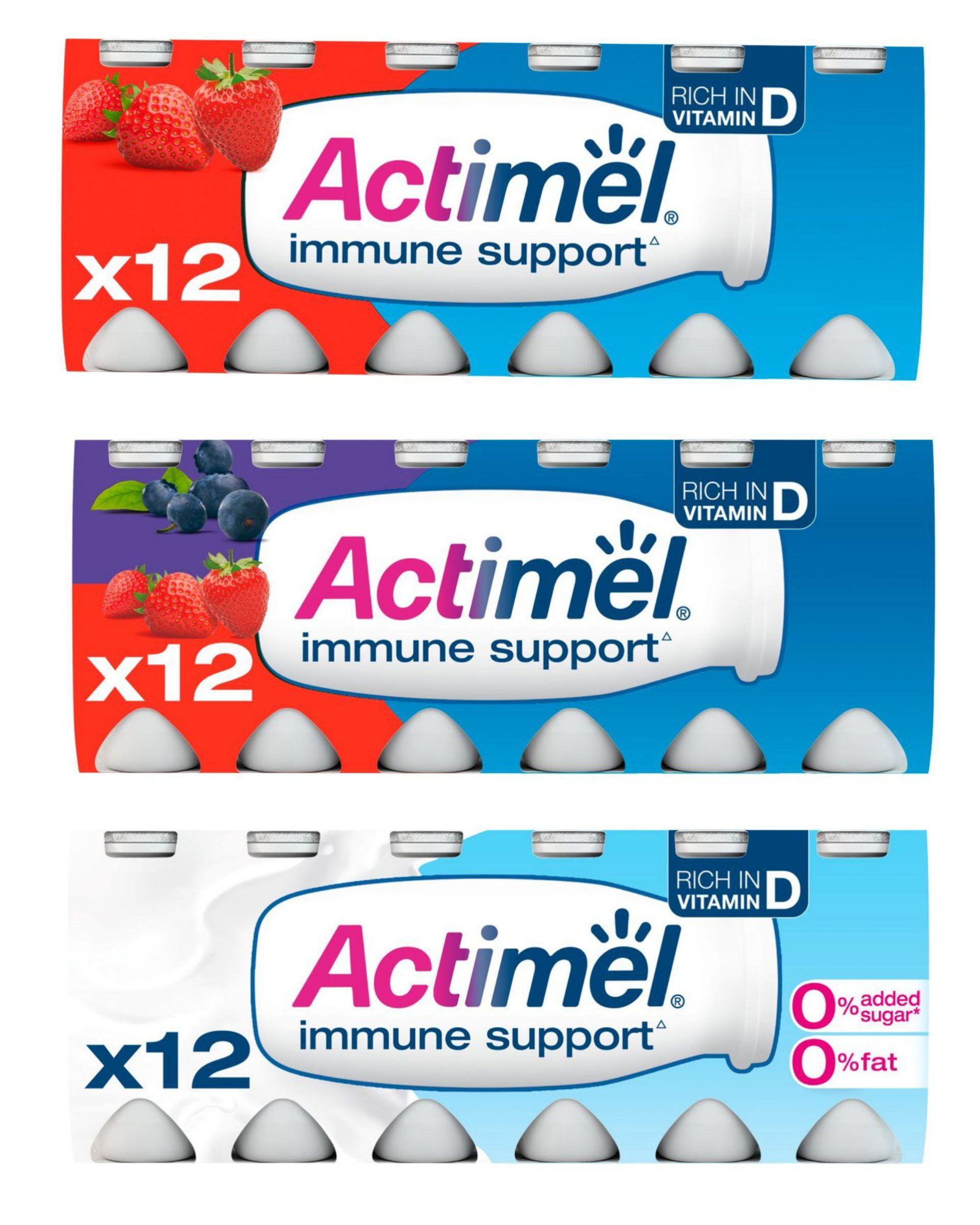 Actimel Strawberry / Strawberry & blueberry / 0% fat original Yogurt Drinks12 x 100g £2 @ Morrisons