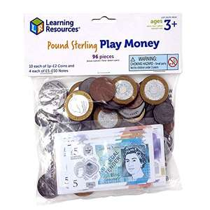 Learning Resources (UK Direct Account) LSP2629MUK Pound Sterling Play Money £5.51 (+£4.49 Non-Prime) @ Amazon