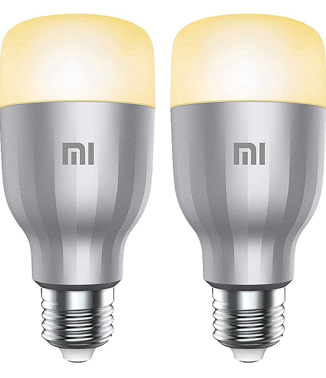 Xiaomi Mi LED Wi-Fi Enabled Smart Bulb E27 White & Colour, 10 W - 2 Pack - £17.03 (+£4.49 Non Prime) @ Amazon