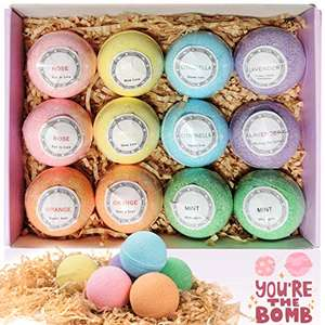 Bath Bombs Gift Set, TTRwin 12 Fizzy Bubble Bath Bath Bombs £8.49 (+£4.49 nonPrime) Sold by Hobee store and Fulfilled by Amazon
