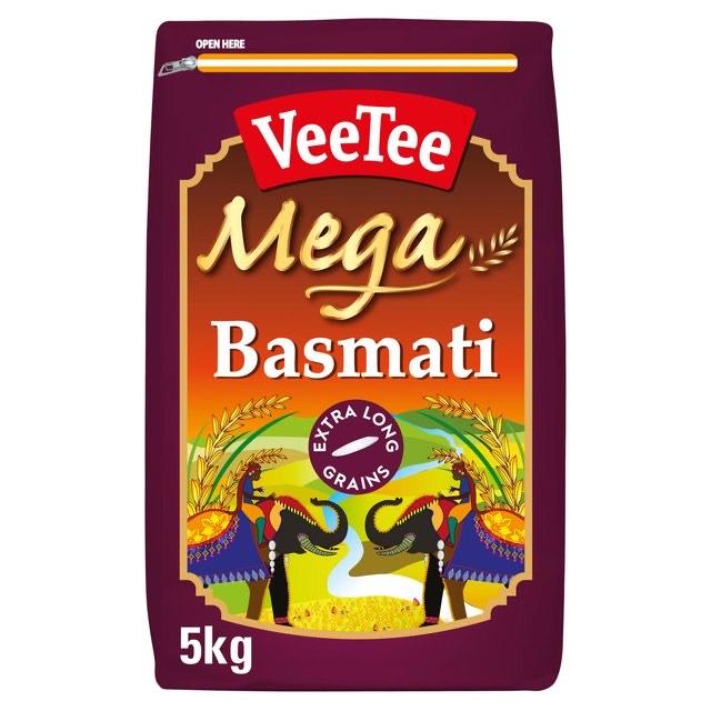 Veetee Mega Extra Long Basmati Rice 5kg - £7 @ Morrisons