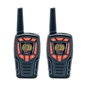 Cobra AM845 Weather Resistant Walkie Talkie with Built-in LED Flashlight, over 10Km Range, (2 Pack) – Black £31.60 @ Amazon