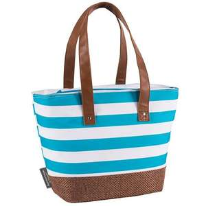 Navigate Blue & White Insulated Shoulder Tote Bag / Cool Bag £9.99 (+£1.99 click & collect) @ TK Maxx