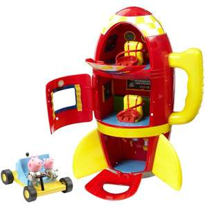 Peppa Pig Spaceship Adventure Playset with Moon Buggy set - £13.43 (+£4.49 nonPrime) at Amazon