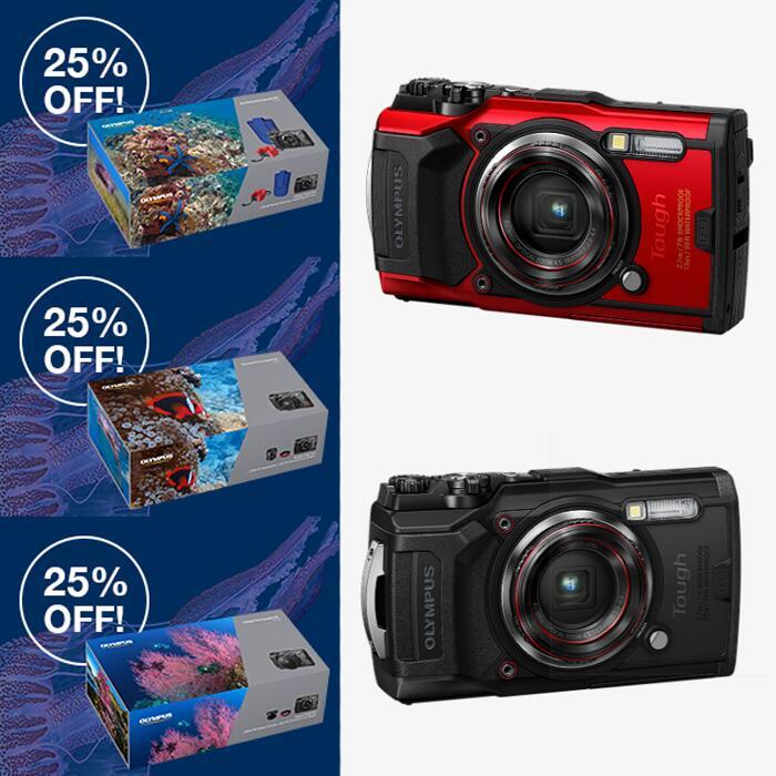Olympus Tough TG-6 Camera Bundles - Snorkel Kit - £329.93 / Teleconverter Kit - £382.43 / Fisheye Kit £427.43 Delivered @ Olympus