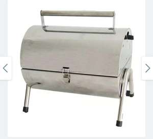 Flamemaster Portable Barrel Charcoal BBQ - Stainless steel - £24.99 with free click & collect @ Robert Dyas