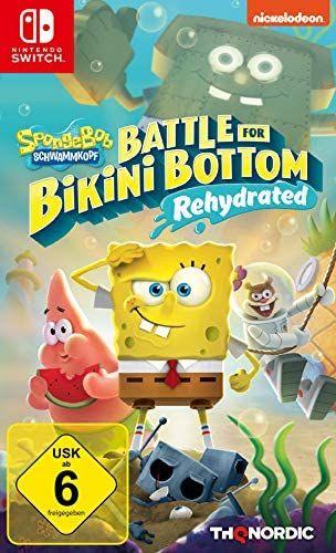 Spongebob Battle for Bikini Bottom Rehydrated (Switch German copy - plays in English on UK Switch) - £10.76 Prime/£16.33 Non-Prime @ Amazon