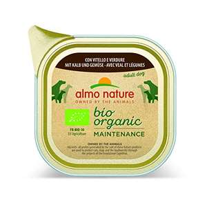 almo nature Daily Organic Dog Food with Veal and Vegetables, 100 g, Pack of 32 £7.91 prime / £12.40 non prime @ Amazon