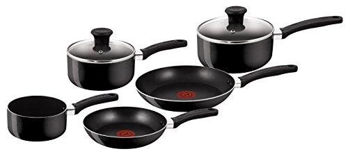 Tefal Delight Cookware Set - Black, 5 Pieces @ Amazon £30