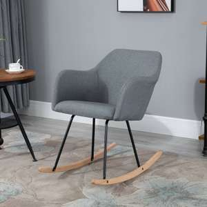 Linen Look Rocking Chair With Solid Wood Curved Legs £50.39 Delivered Using Code (UK Mainland) @ eBay / 2011homcom