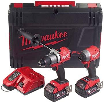 Milwaukee M18FPP2A2-502X Fuel M18FPD2 & M18FID2 Impact Driver 2 x 5.0Ah + case £304.19 using code @ powertoolmate eBay
