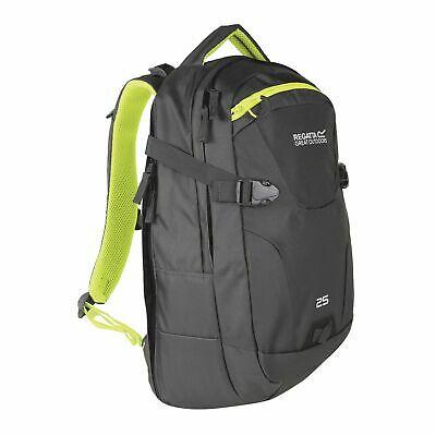 Regatta Unisex Paladen 25L Laptop Backpack dark grey / neon green for £15.45 delivered @ eBay / Regatta