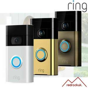 Ring Video DoorBell 720P Camera (1st Gen) WiFi Motion, Two Way Audio (grade A) for £49.45 delivered (using code) @ eBay/red-rock-uk