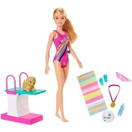 Barbie GHK23 Dreamhouse Adventures Swim 'n Dive Doll and Accessories for £13.49 delivered (mainland UK) @ BargainMax