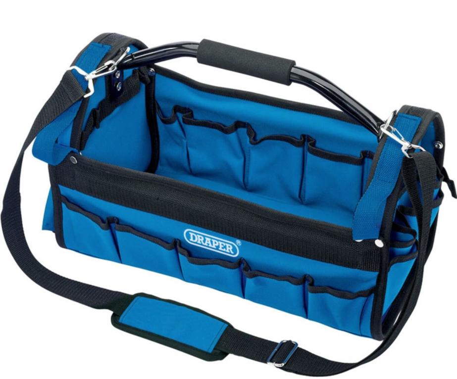 "Draper 26 Pocket 16"" 420mm Open Tote Tool Bag £18.49 b.p.r-trading eBay"
