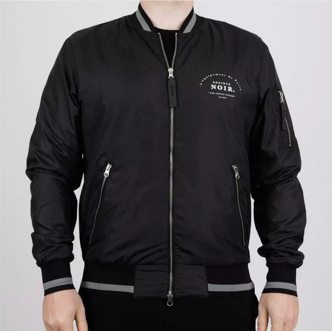 Mens Societe Noir Maison Bomber Jacket Black £4.99 + £1.99 delivery bigbrandoutlet2015 eBay