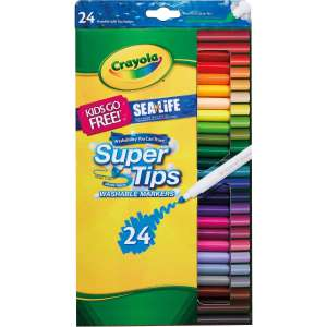 Half Price Crayola items @ Hobbycraft - e.g Crayola Supertips Washable Markers 24 Pack £3.50 (+£3.50 Delivery)