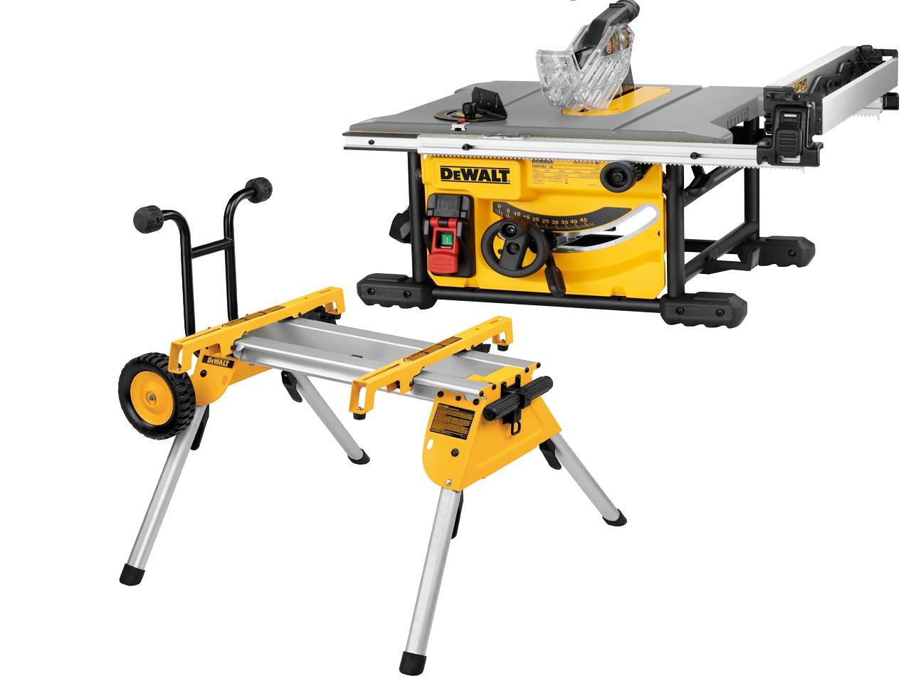 DeWalt DWE7485 & DE7400 240V 210mm Table Saw With Stand Set £549.99 with voucher @ Powertoolmate/Ebay