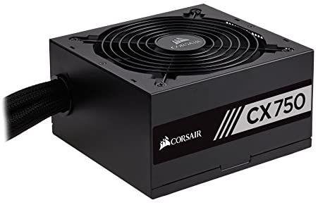 Corsair CP-9020123-UK CX Series 750 W CX750 ATX/EPS 80 PLUS Bronze Power Supply Unit - Black £45.20 @ Amazon