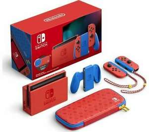 Mario Edition Red Blue Nintendo Switch console £301.49 with code at modaphones / eBay