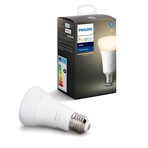 Philips Hue White Single Smart Bulb LED [E27 Edison Screw] - £8.41 (Prime) + £4.49 (non Prime) at Amazon