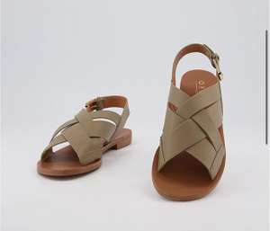 Office Separate Cross Sling Back Sandals Khaki - £20 (Free Click+Collect) @ Office Shoes