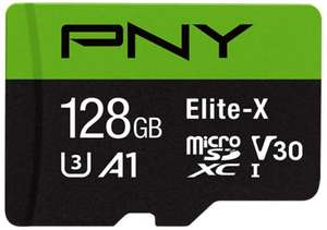 128GB - PNY Elite-X microSDXC Class 10, UHS-I, U3, V30, A1 rated, up to 100MB/s read speed - £12.37 Prime /+£4.49 Non Prime @ Amazon