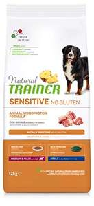 Natural Trainer Sensitive No Gluten Medium & Maxi Adult Dry Dog Food with Pork and Whole Grain 12kg £9.83 + £4.49 NP @ Amazon