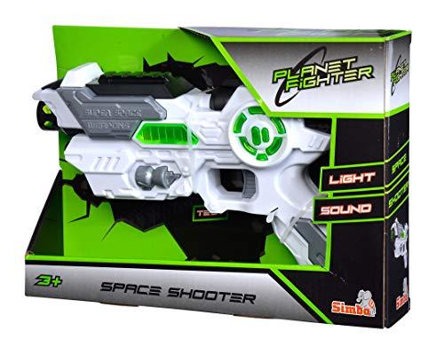 Simba Planet Fighter Space Shooter 108042205 Laser Gun 23 cm - £3.95 Prime/+£4.49 Non Prime @ Amazon
