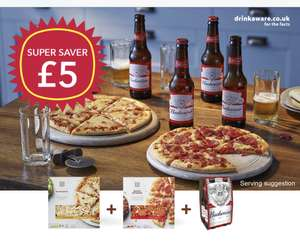 Two Co-op pizzas & 4 Budweisers or Coca Cola £5 or £4.50 NUS/Totum @ The Co-op
