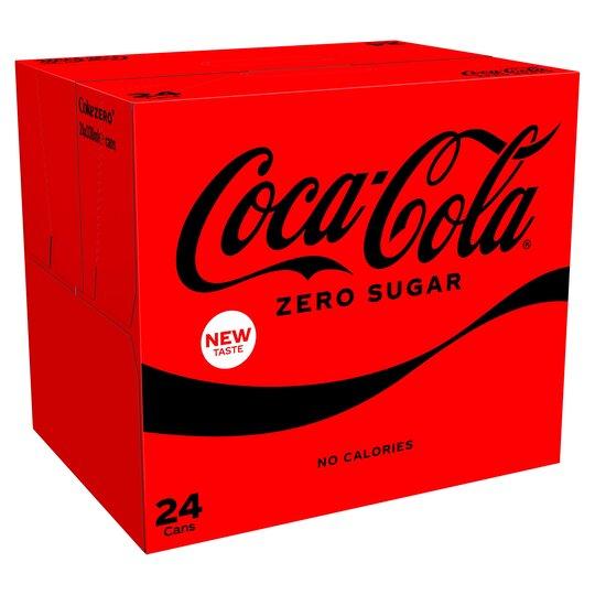 Coca Cola Coke Zero or Zero Sugar Cherry (24X330ml) £7 (Clubcard Price) @ Tesco