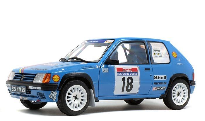 solido 421185740 Peugeot 205 Rallye, Tour de Corse 1990, Driver: Vericel/Chollier, Model Car, 1:18, Blue - £27.80 @ Amazon