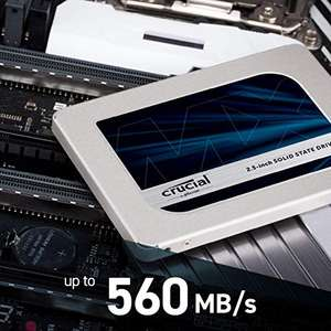 """Crucial MX500 Internal 250GB SSD up to 560MB/s (3D NAND, SATA, 2.5"""") - £26.90 @ Amazon"""