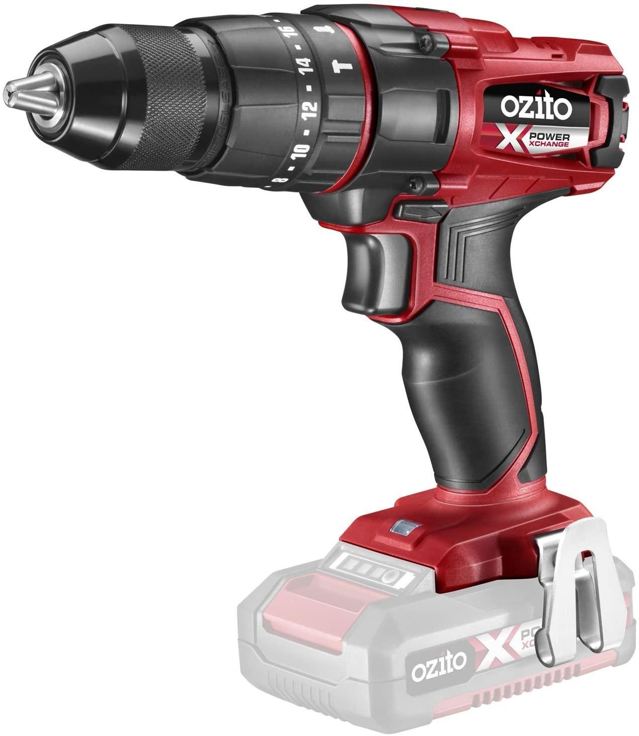 Ozito (Einhell) Power X-Change 18V Li-Ion Cordless Hammer Drill - Bare Unit - PXHDS-301U - £32.95 @ CPC Farnell