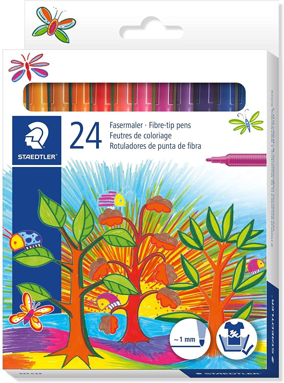 Staedtler Noris Club Fibre Tip Fine Nib Pen - Pack of 24, Assorted Colors £2.34 @ Amazon (£4.49 p&p non prime)