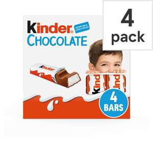 Kinder Chocolate x 12 for £1.20 with Tesco Clubcard (£1.80 without)