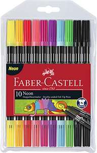 Faber-Castell Neon Double-Ended Felt Tip Pens - Set of 10 £1.99 (Prime) + £4.49 (non Prime) at Amazon