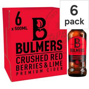 Bulmers crushed berries and lime 6x500ml cider - £1.74 @ Morrisons (Woking)