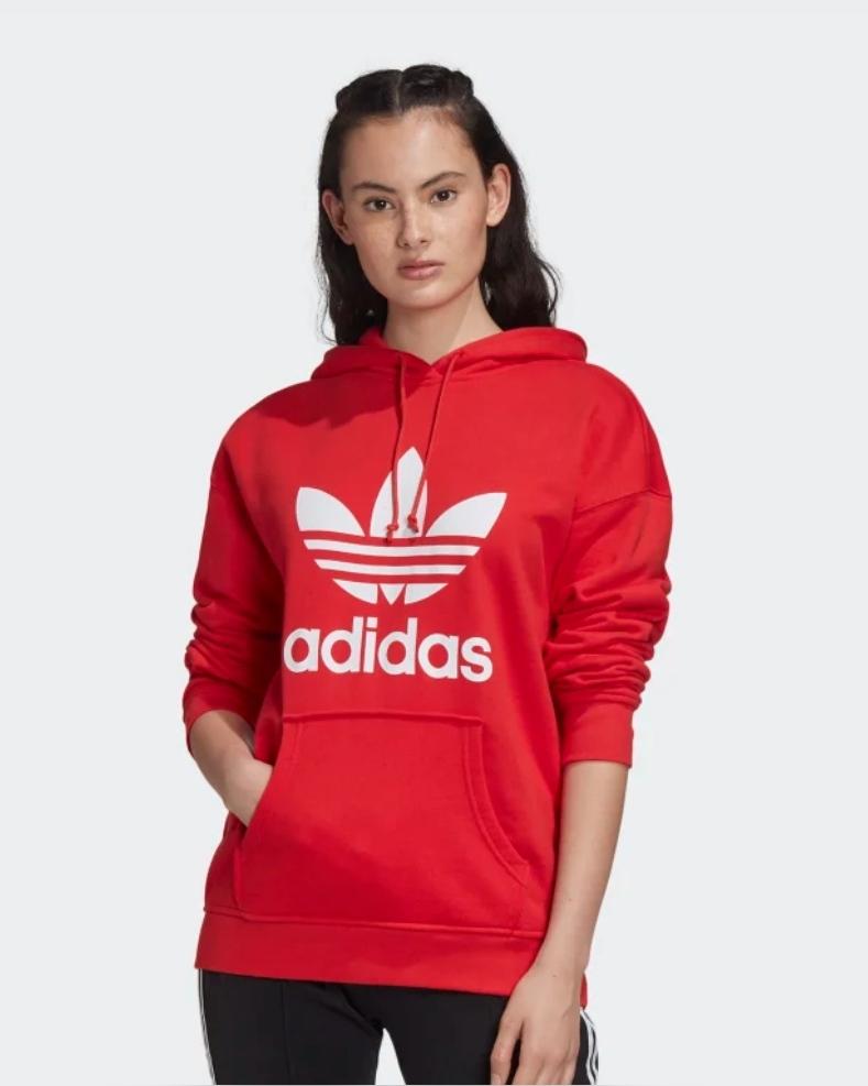 Women's Adidas Adicolor Trefoil Hoodie Now £25.50 with code on app Free Delivery Creators Club via App @ Adidas