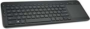 Microsoft All-in-One Media Keyboard with Integrated Track Pad - Monotone £18.99 Prime/+£4.49 NP @ Amazon
