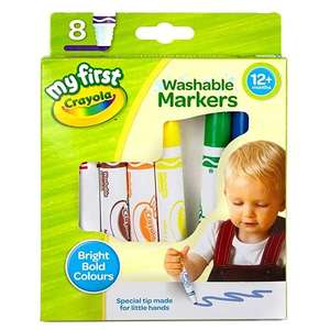 CRAYOLA My First Washable Markers, Pack of 8 £2.32 (Prime) + £4.49 (non Prime) at Amazon