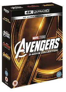 Avengers Collection (1-3 Box-set) [UHD] [Blu-ray] [2018] [Region Free] - £29.57 delivered at Amazon