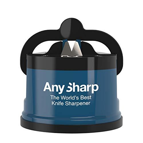 AnySharp World's Best Knife Sharpener with PowerGrip, Blue - £6.66 Prime /+£4.49 Non Prime @ Amazon