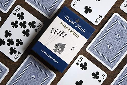 Cartamundi Royal Flush Playing Cards (3 pack, Red / White / Blue) £3.43 (Prime) + £4.49 (non Prime) at Amazon