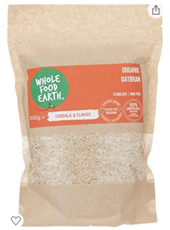 Wholefood Earth:Organic Oatbran 500g - £1.02 (+£4.49 Non Prime) @ Amazon