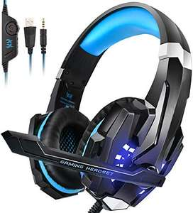PS4 Headset, INSMART PC Gaming Over-Ear Gaming Headphones - £18.65 Prime / +£4.49 non Prime Sold by INSMART UK and Fulfilled by Amazon