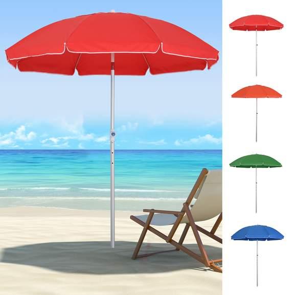 Arc. 1.9m Beach Umbrella w/ Adjustable Angle Pointed Design + Carry Bag (Various Colours) £20.69 Delivered using code @ eBay / 2011homcom