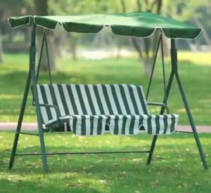 Three-Seater Swing Chair with Solar-Powered LEDs for £73.15 delivered using code @ Groupon