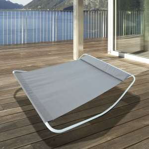 Double Day Bed / Outdoor Rocking Sun Lounger Hammock in Grey £104.39 delivered @ eBay / 2011homcom