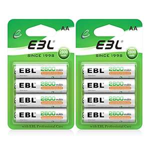 EBL AA Rechargeable Batteries x8 - £9.79 Prime / +£4.49 non Prime Sold by EBL Official and Fulfilled by Amazon